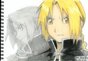 FMA drawings - Edward Elric by mangaslover