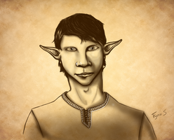 High Elf Squire Sketch by ErigadGreatwood