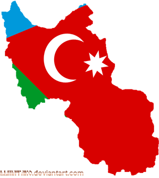 Flagmap of South Azerbaijan by llmatako