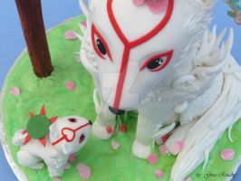 Okami cake view 2 by ginas-cakes