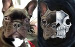Grimm - Custom Dog Skull Painting by sobeyondthis
