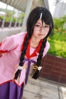 Bakemonogatari - Hanekawa by Xeno-Photography