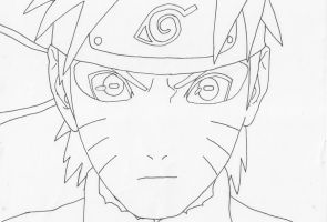 Naruto Sage mode by Pantheiros