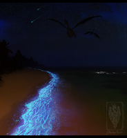 Shimmering shores by GlowingSpirit