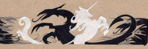 Dragon and Unicorn - Fighting Together by mcah