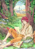 Farel in the woods by saniika