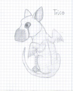 Another Trico Doodle by idrawshittydrawings