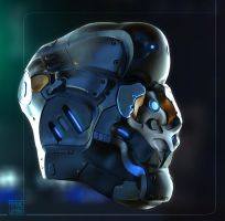 Cyborg Head by Hideyoshi