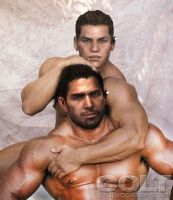Chris Redfield and Piers Nevans by SpyrousSeraphim