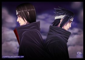 Sasuke vs. Itachi by Yahik0
