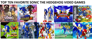 My Favorite Top 10 Sonic Games by L-fangirl-101