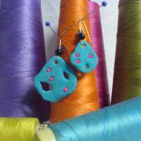 blue lava earrings by strictlyhandmade