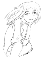 Meria -line art- by The-Child-of-Heart