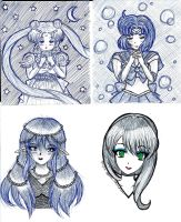 Doodles from Work by SailorUsagiChan