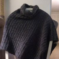 Heather Grey Cowled Poncho by SparklyDest