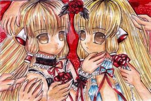 CHOBITS: CHII AND FREYA by ladybluematrix