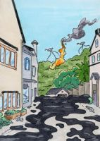 WOW 22 webWar of the Worlds Sketch Card (22) by GeekyWhiteGuy