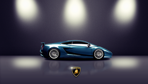 Blue Lamborghini Gallardo by AbangZam