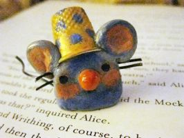 Polka-Dotted Thimble Mouse by SpaceCadetAmy