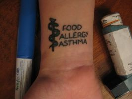 Medic Alert Tattoo by lost-angle