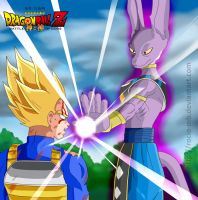 DBZ Battle of Gods: Vegeta and Birusu by rocio-mb