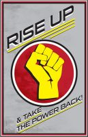 Rise up Poster by Blind-Pixel777