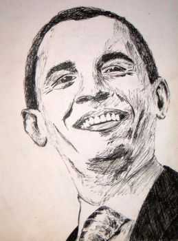 Obama Sketch by Squigglybleh