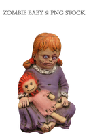 Zombie Baby 2 Png Stock by KarahRobinson-Art