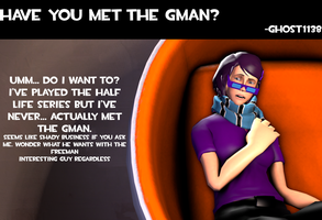 Ask Z No. 5: The Gman by ZeFlyingMuppet