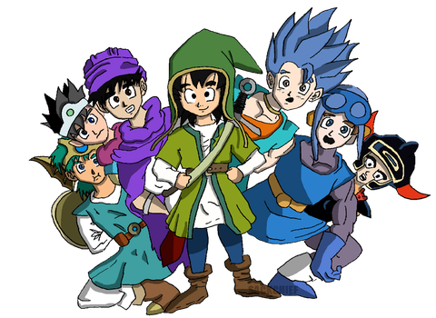 Dragon Quest Heroes by sackchief