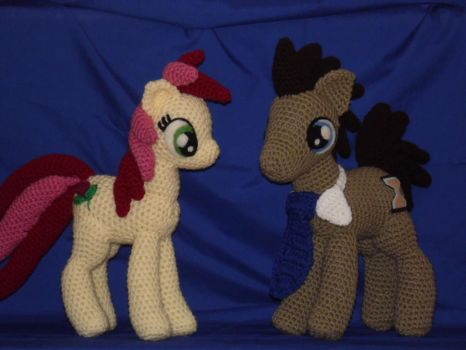 The Doctor and Rose MLP by Country-Geek-Crochet