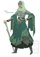 [closed] Adopt - Mint Swordswoman by fionadoesadopts