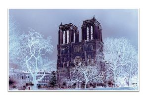 Notre Dame in Winter by thanhdad