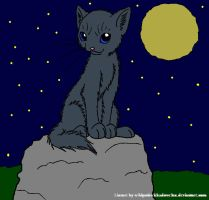 Bluestar night by DemonicVampyreWolf