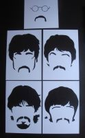 Beatles - Minimalist Stencil Sgt Pepper Era by RAMART79