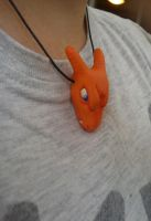 Charizard necklace by chibelin