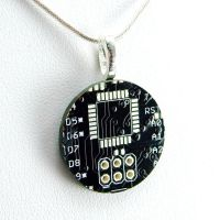 Black Circuit Board Necklace by Techcycle