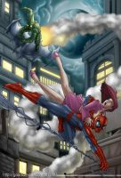 Spidey in action by gaudiamo