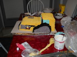 Cat Challenger Cake Side View2 by MysteriousFoxThief