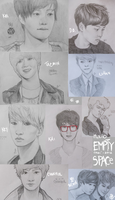 SHINee-EXO sketchdump by Yui-00