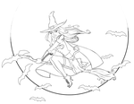Witchy: Vector Colouring Book by Ikue