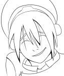 Toph lineart by Hannah-MK