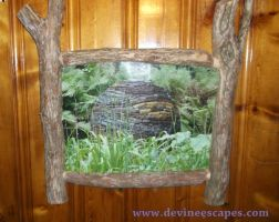 dry stone sphere framed print by Devine-Escapes