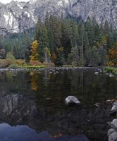 Autumn Reflection on Merced River by Synaptica