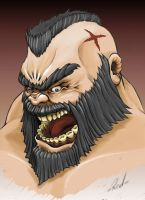 Street Fighter's Zangief by Sirinava
