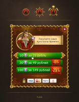 Browser game interface elements by Vadich