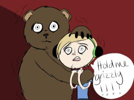 Hold me pewdiepie-I mean grizzly by NyahNikki