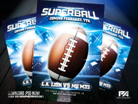 American Football Flyer Template by pawlowskiart