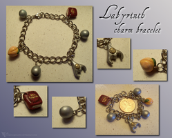 Labyrinth Charm Bracelet by Hedgehogscanfly