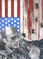 Hunter S Thompson by themacabaret
